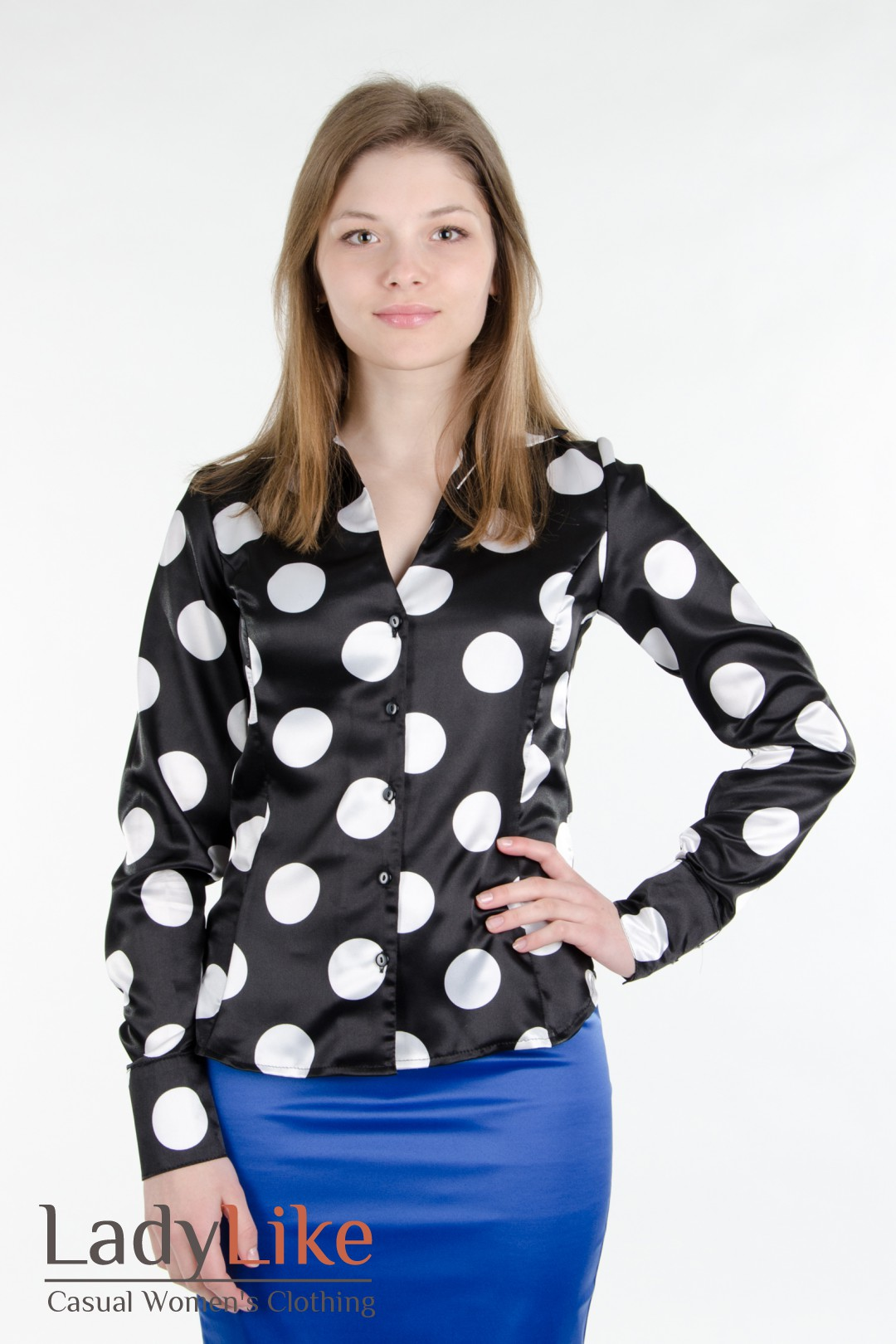 Блузка В Крупный Горох Купить