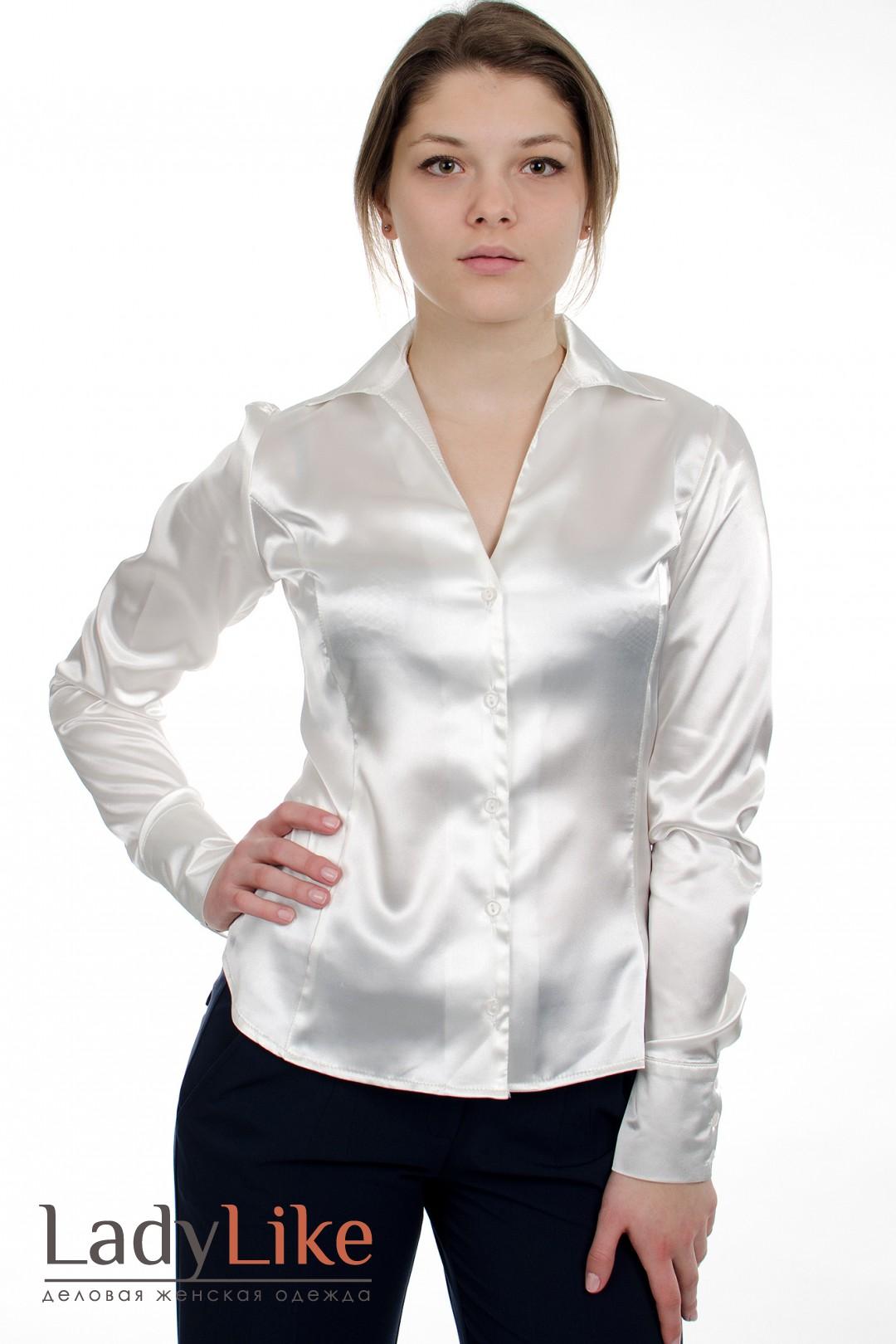 Блузки Рубашечного Кроя Из Атласа Купить