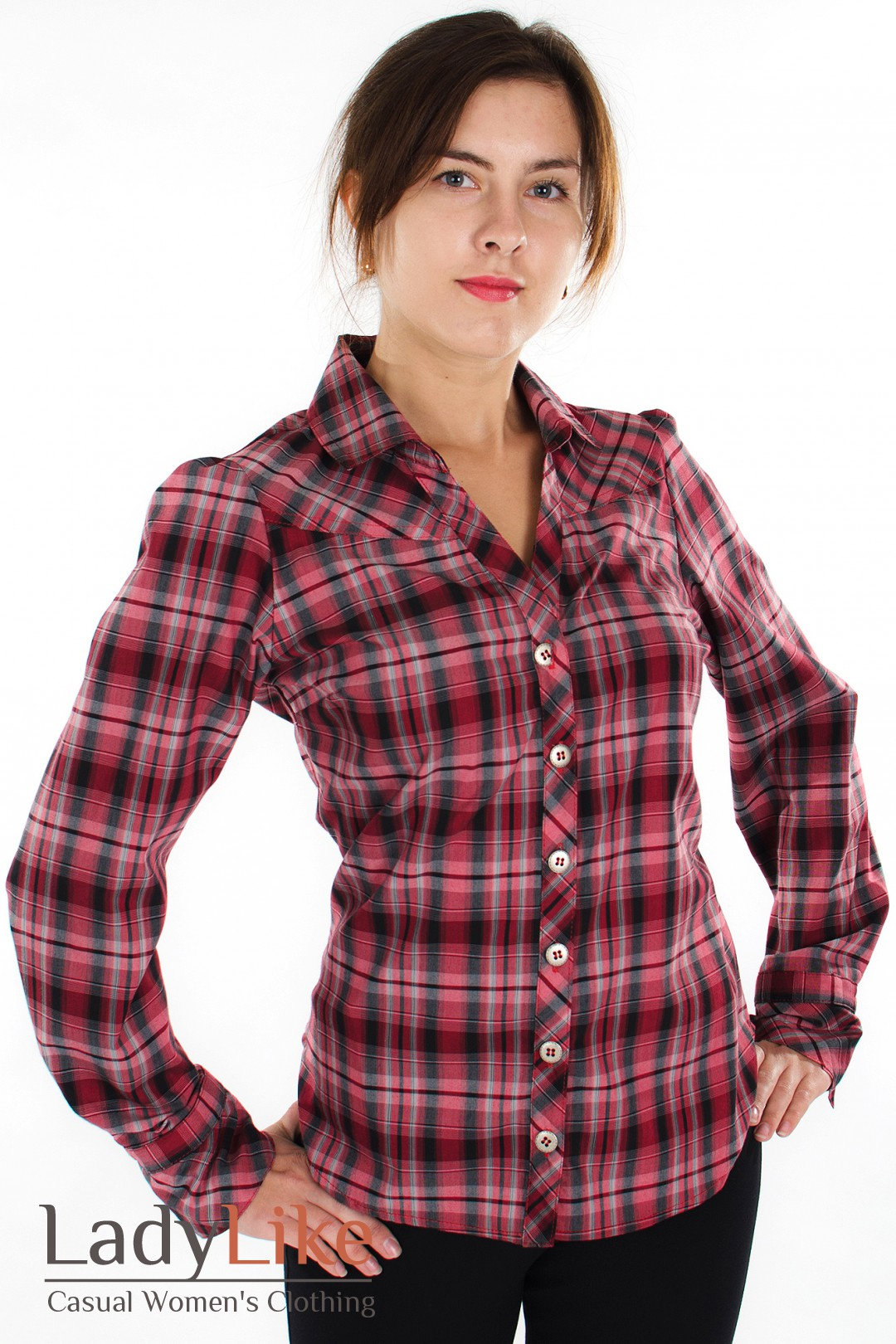 Блузка В Клетку Женская