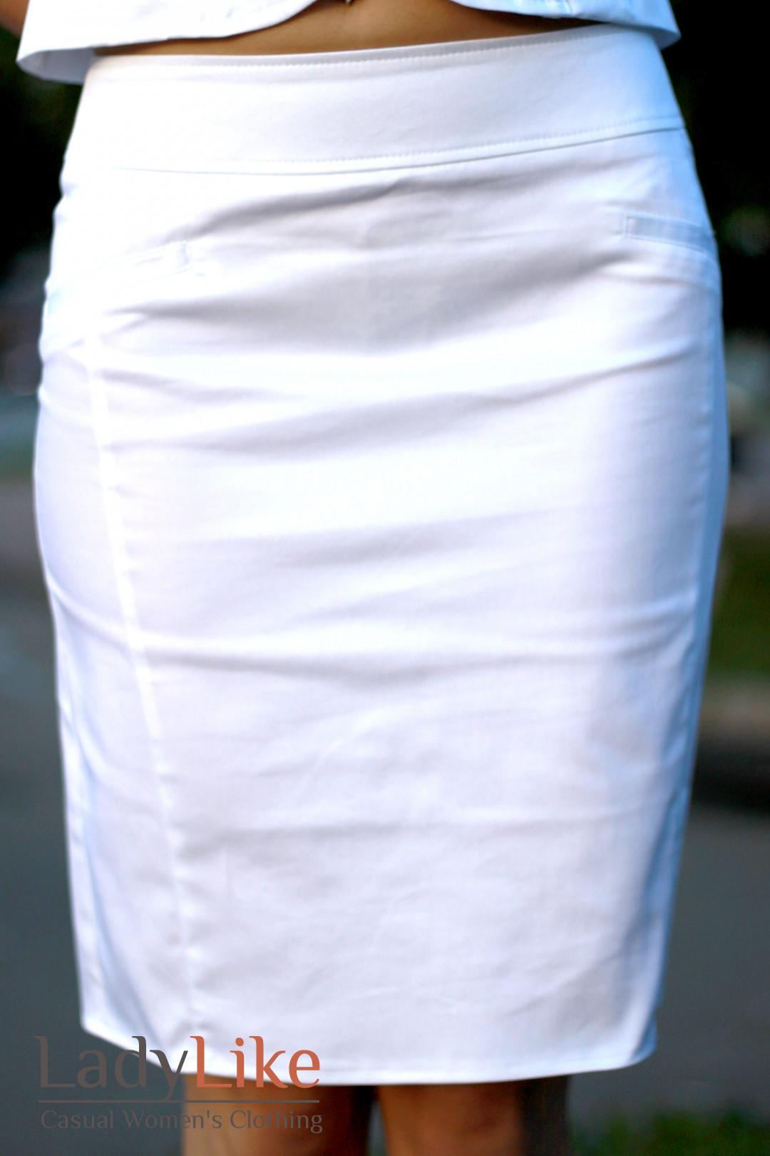 Как сшить белую прямую юбку