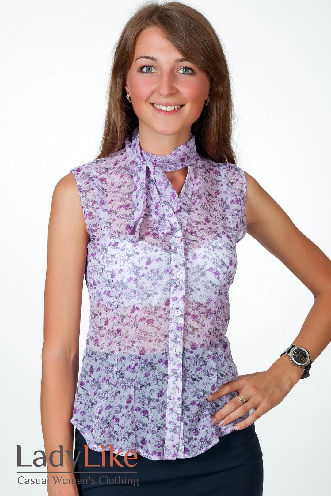 Модель Блузки В Мелкий Цветочек Для Жаркого Лета