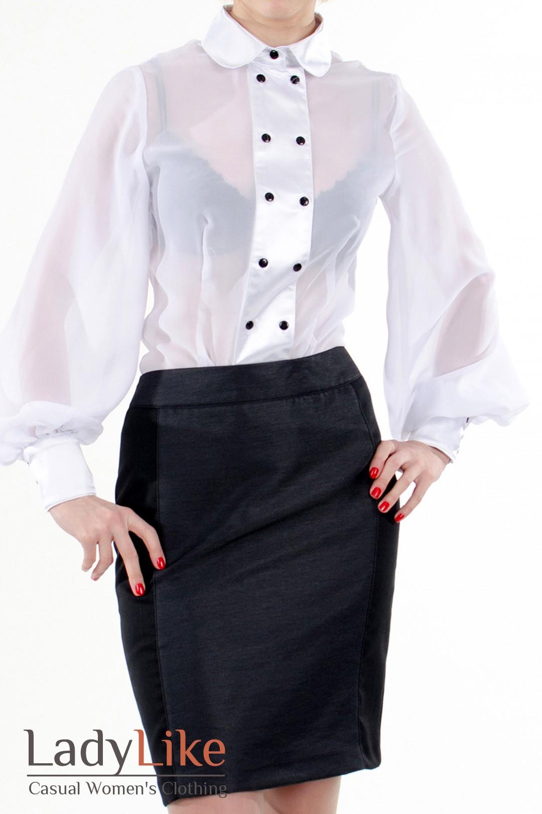 Белая блузка с широкими рукавами купить