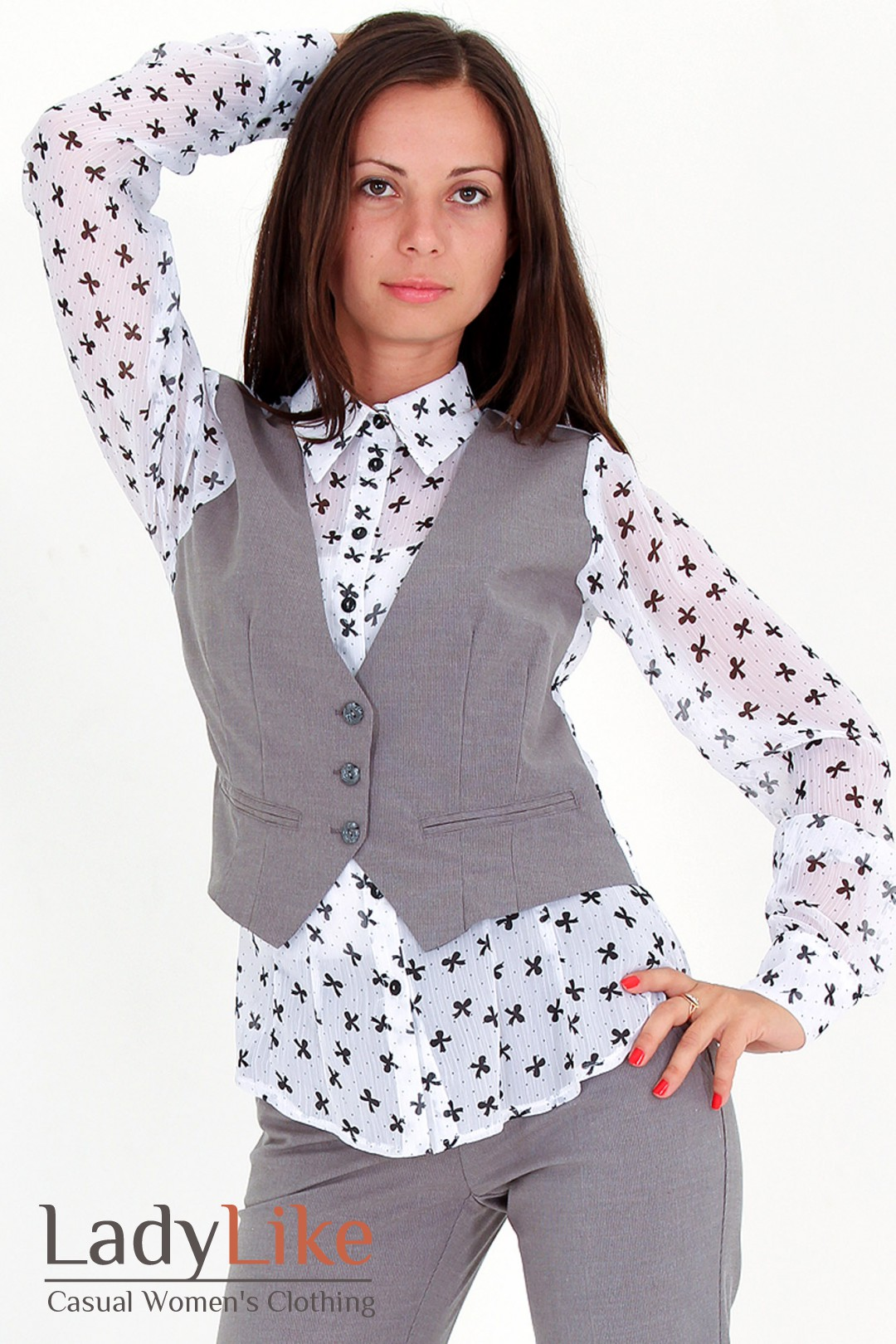 Блузка С Жилетом