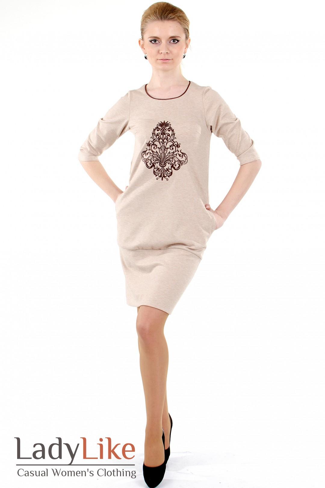 Как украсить бежевое платье своими руками