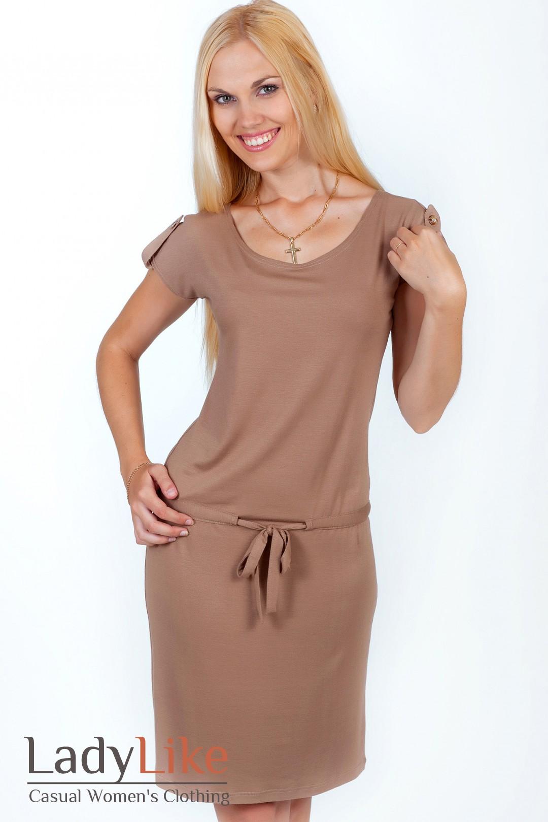 Фото платья с поясом на бедрах
