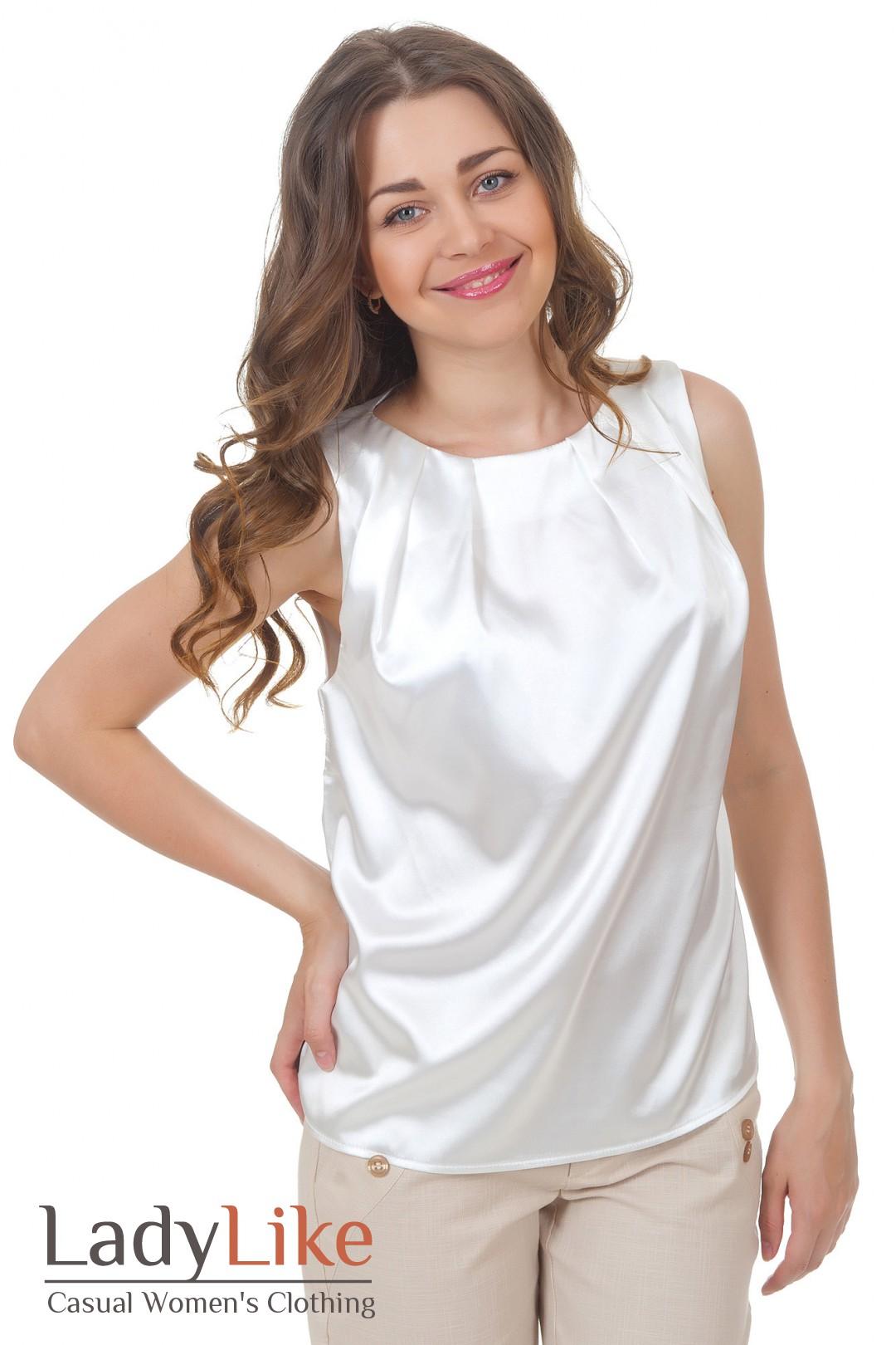 Атласная Блузка С Коротким Рукавом Купить