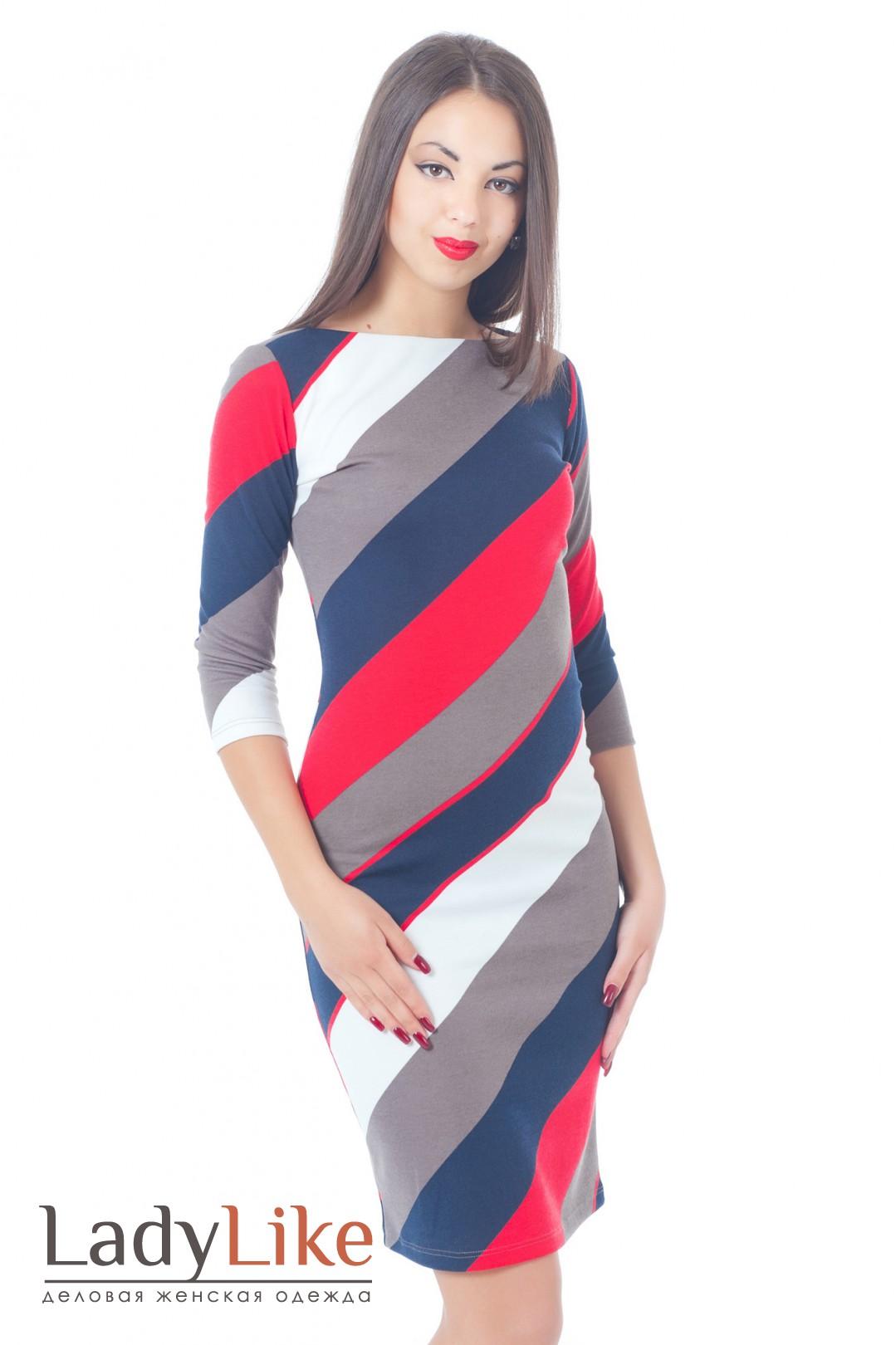 Платье в диагональную полоску 80