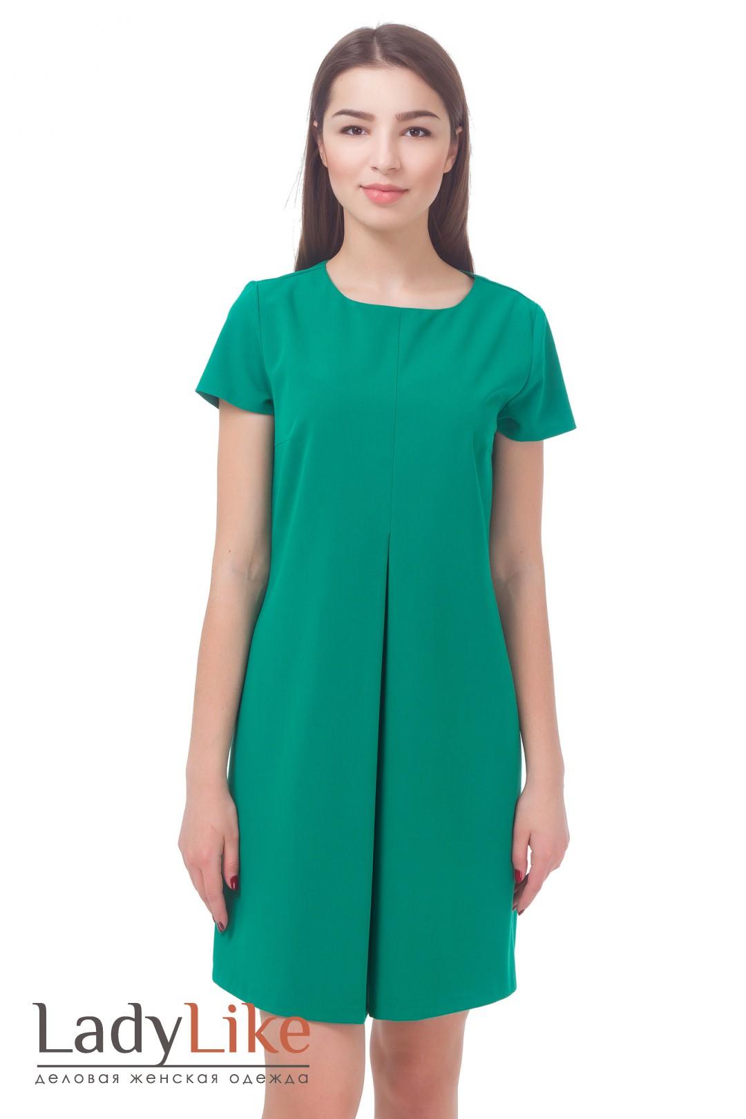 Платье с встречной складкой спереди