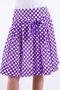 Фото Юбка сиреневая в горох Деловая женская одежда