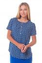 Блузка в ромашки с пуговицами Деловая женская одежда