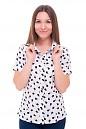 Блузка белая в яблоки Деловая женская одежда фото