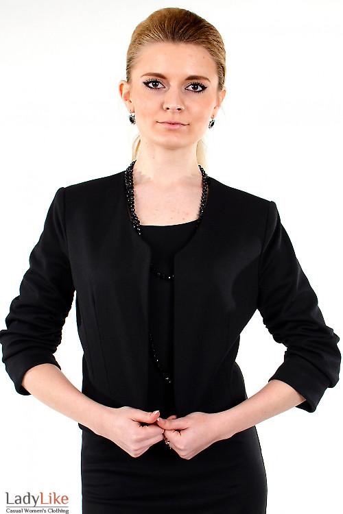 Фото Болеро черное трикотажное Деловая женская одежда