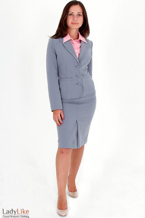Фото Жакет светло-серый Деловая женская одежда