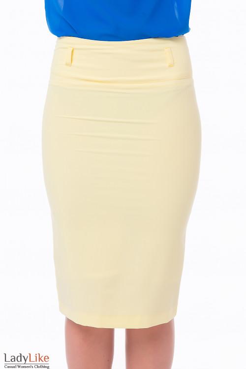 Юбка-карандаш желтая Деловая женская одежда