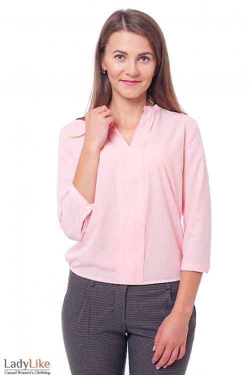 Блузка персикового цвета из вискозы Деловая женская одежда фото
