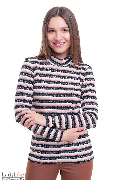 Гольф полосатый с люрексом Деловая женская одежда фото