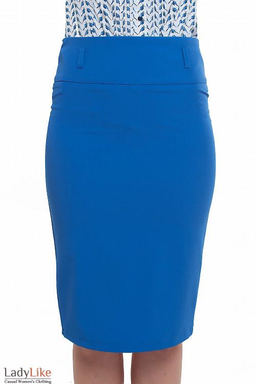Юбка-карандаш ярко-синяя Деловая женская одежда фото