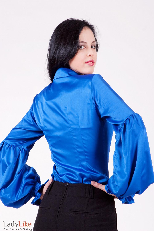 Блуза 338g Эффектная блуза из атласа