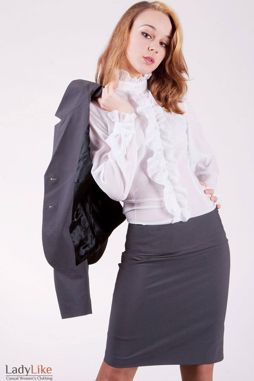 Блуза 231W Из тонкого шифона
