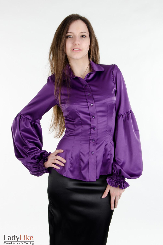 Прозрачная Блузка Без Рукав Из Шелка С Жабо
