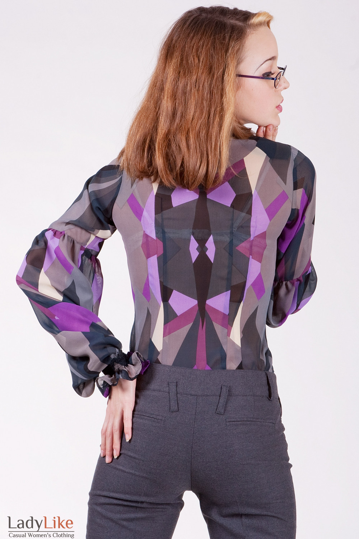 Блуза 338y Блуза из тонкого шифона, облегающего покроя.