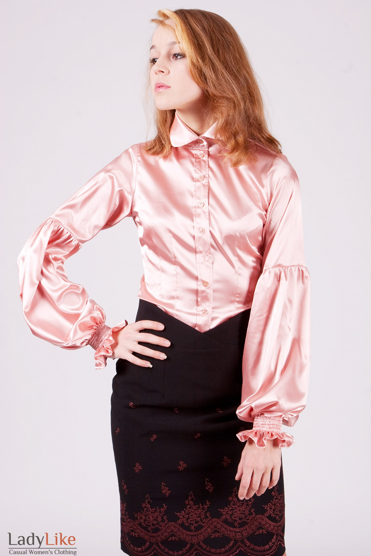 Блуза 338p Эффектная блуза из атласа