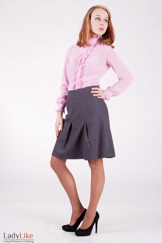 Блуза 231P Из тонкого шифона. Цвет розовый.
