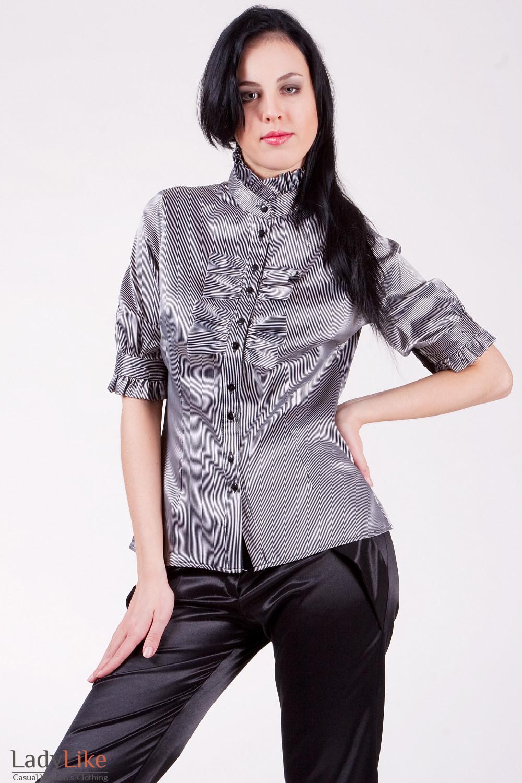 Блуза 514p Блуза  из атласа, облегающего покроя