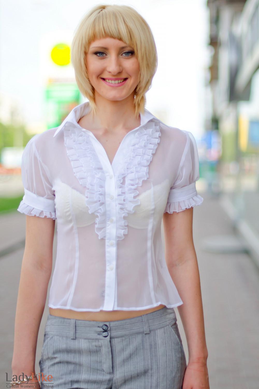 Блузки Женские Белые С Доставкой