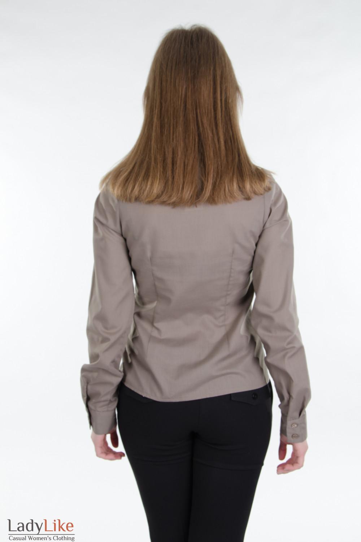 Рубашка классическая хаки. Деловая женская одежда