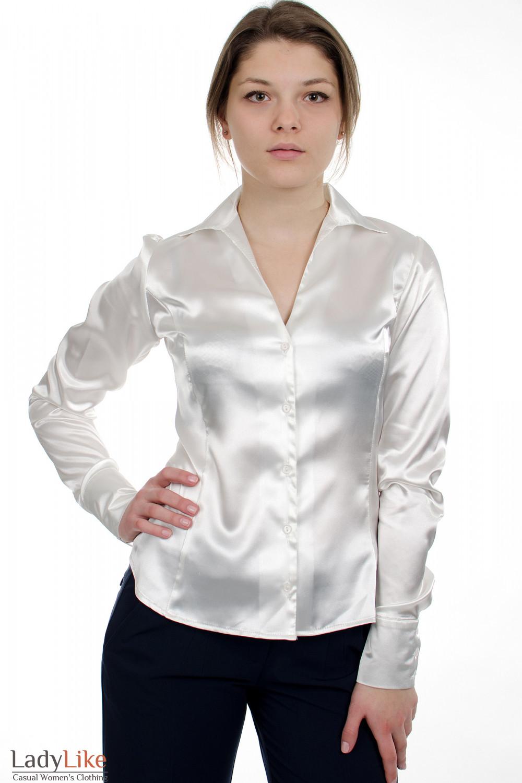 Белая Блузка Атласная Доставка