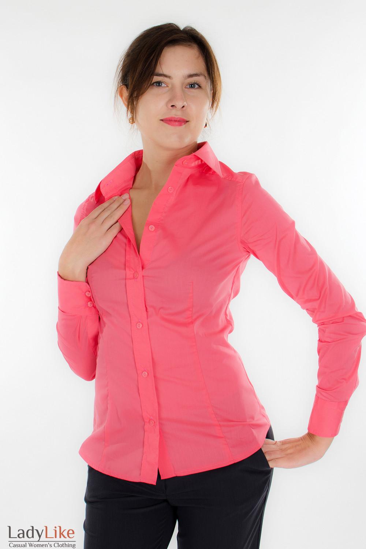 Блузка классическая коралловая Деловая женская одежда
