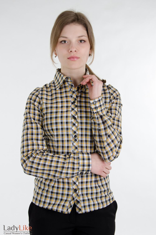 Блузка классическая желтая Деловая женская одежда
