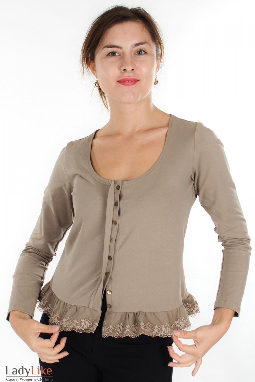 Блузка С Вязаной Отделкой