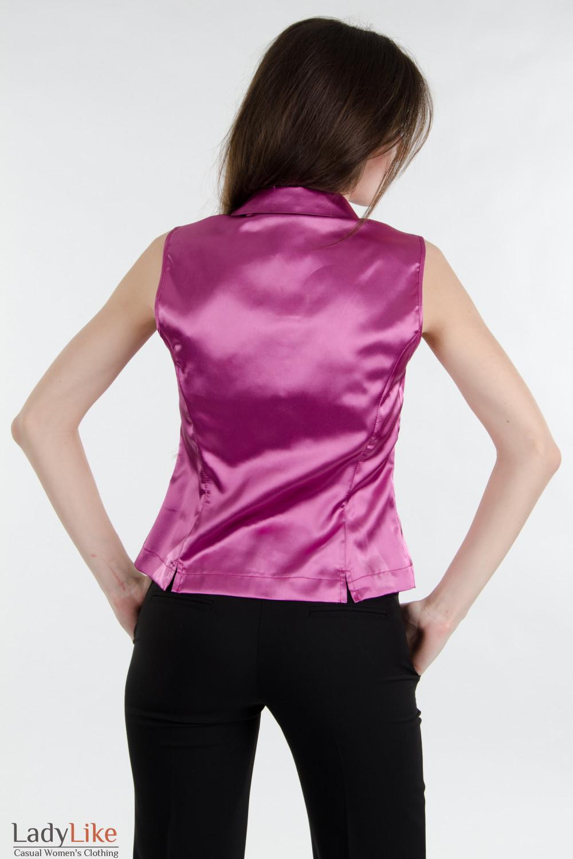 Блузка розовая без рукавов Деловая женская одежда