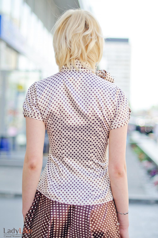 Красивая блузка с цельнокроеными 3