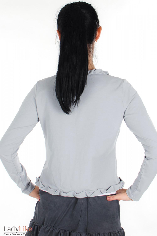 Болеро серое вид сзади Деловая женская одежда