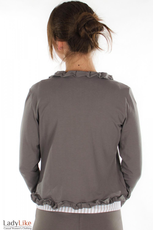Болеро темно-коричневое вид сзади Деловая женская одежда