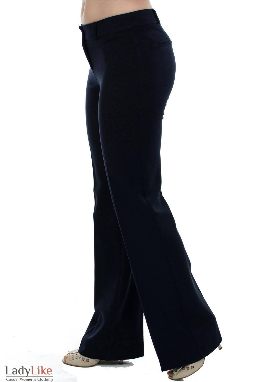 Брюки черные на флисе Деловая женская одежда