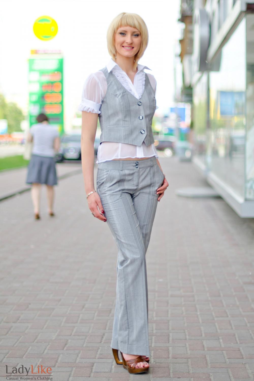Брюки классические с манжетом Деловая женская одежда