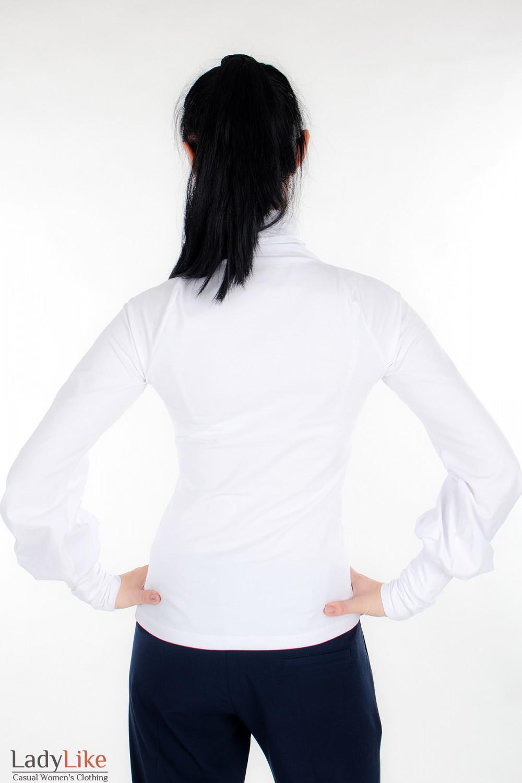 Гольф белый вид сзади Деловая женская одежда