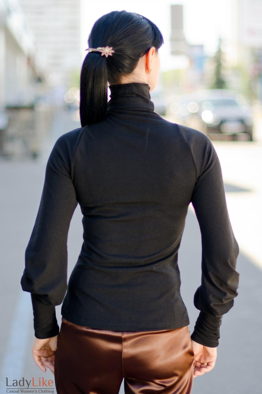 Гольф черный вид сзади Деловая женская одежда