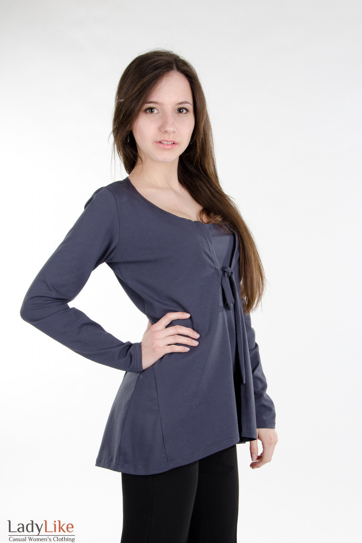 Кардиган темно-серый Деловая женская одежда