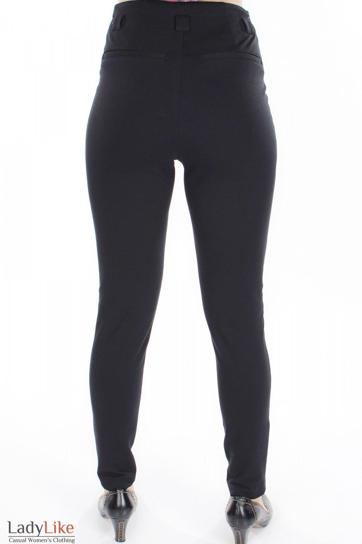 Леггинсы теплые черные вид сзади Деловая женская одежда