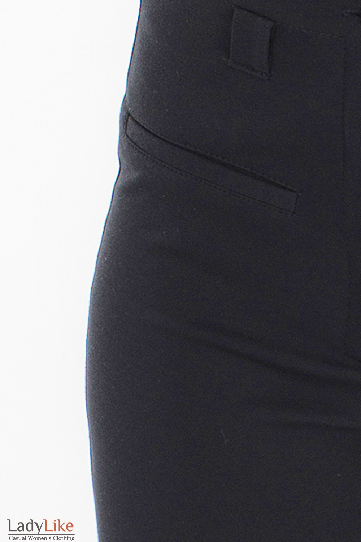 Леггинсы теплые черные бок Деловая женская одежда