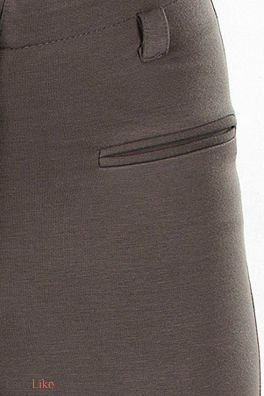 Леггинсы теплые серые швы Деловая женская одежда