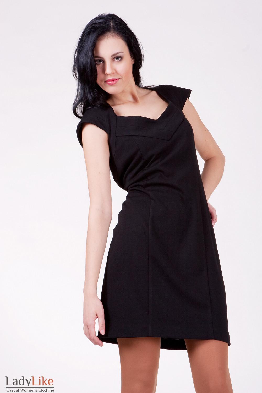 Платье 495b коктельное черное