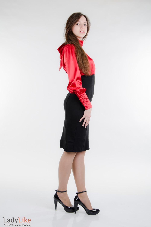 Платье красно-черное Деловая женская одежда