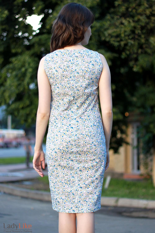 Платье летнее цветное вид сзади Деловая женская одежда