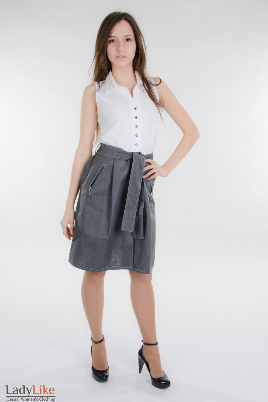 Платье летнее с поясом Деловая женская одежда